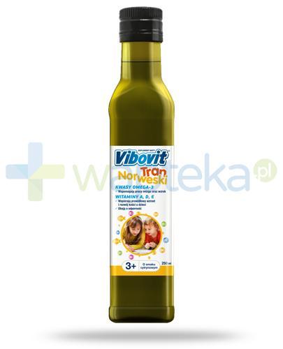 Vibovit tran norweski o smaku cytrynowy dla dzieci 3+ 250 ml