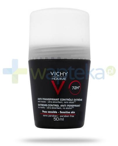 Vichy Homme 72h antyperspirant do skóry wrażliwej, roll-on 50 ml