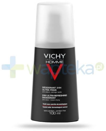 Vichy Homme Dezodorant ultra świeżość spray ochrona do 24 h 100 ml