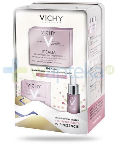 Vichy Idealia ZESTAW 2016 krem rozświetlający do skóry suchej na dzień 50 ml + balsam w żelu regenerujący na noc 15 ml + serum 7 ml