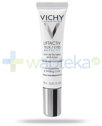 Vichy Liftactiv Eyes Supreme przeciwzmarszczkowa pielęgnacja liftingująca skórę wokół oczu do skóry wrażliwej 15 ml