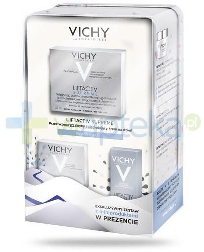 Vichy Liftactiv Supreme ZESTAW 2016 krem przeciwzmarszczkowy ujędrniający na dzień do skóry suchej 50 ml + krem przeciwzmarszczkowy i ujędrniający na noc 15 ml + serum 10 odmładzające 3 ml