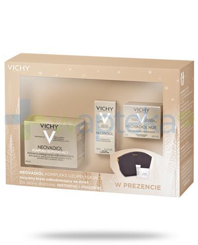 Vichy Neovadiol Kompleks uzupełniający aktywny krem odbudowujący na dzień do skóry dojrzałej, normalnej i mieszanej 50 ml + krem na noc 15 ml + serum 3 ml + kosmetyczka [ZESTAW]