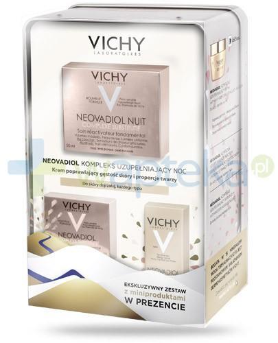 Vichy Neovadiol Kompleks uzupełniający noc ZESTAW 2016 krem poprawiający gęstość skóry i proporcje twarzy do skóry dojrzałej kazdego typu 50 ml + krem aktywny odbudowujący na dzień 15 ml + serum aktywne odbudowujące 3 ml