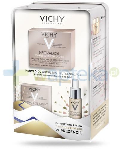 Vichy Neovadiol kompleks uzupełniający ZESTAW 2016 krem aktywny odbudowujący na dzień do skóry dojrzałej suchej 50 ml + krem poprawiający gęstość skóry i proporcje twarzy na noc 15 ml + serum odbudowujące 7 ml