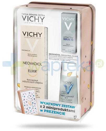 Vichy Neovadiol Magistral ZESTAW Elixir 30 ml + Purete Thermale płyn micelarny 30 ml + Liftactiv Serum 10 do skóry wrażliwej 3 ml