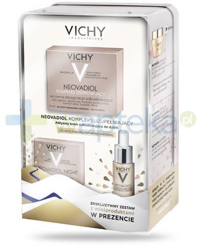 Vichy Neovadiol kompleks uzupełniający ZESTAW 2016 krem aktywny odbudowujący na dzień do skóry dojrzałej normalnej i mieszanej 50 ml + krem poprawiający gęstość skóry i proporcje twarzy na noc 15 ml + serum odbudowujące 7 ml