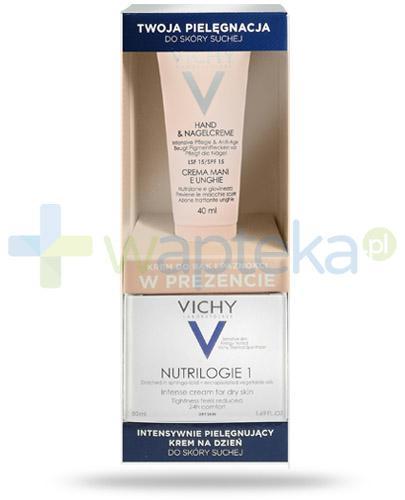 Vichy Nutrilogie 1 Intensywnie pielęgnujący krem na dzień 50 ml + Vichy Ideal Body krem do rąk i paznokci SPF15 40 ml [ZESTAW]