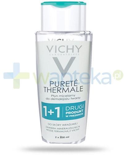Vichy Purete Thermale 3w1 płyn micelarny do demakijażu 2x 200 ml