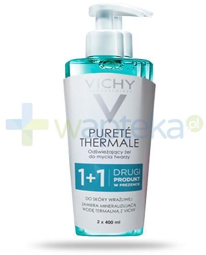 Vichy Purete Thermale odświeżający żel do mycia twarzy bez mydła 2x 400 ml