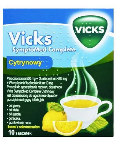 Vicks AntiGrip Complex 500 mg + 200 mg + 10 mg smak cytrynowy 10 saszetek