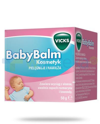 Vicks BabyBalm maść z aloesem o zapachu rozmarynu i lawendy 50 g