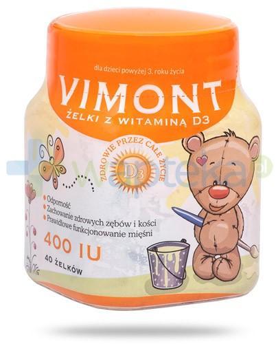 Vimont witamina D3 400IU żelki dla dzieci 3+ 40 sztuk [Data ważności 21-02-2018]