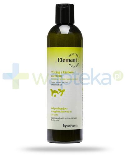 Vis Plantis _Element wyciąg z kiełków rzeżuchy przeciw zanieczyszczeniom, żel peelingujący z węglem aktywnym do ciała 300 ml Elfa Pharm