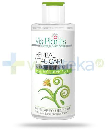 Vis Plantis Herbal Vital Care płyn micelarny 3w1 z aloesem i pantenolem 150 ml Elfa Pharm