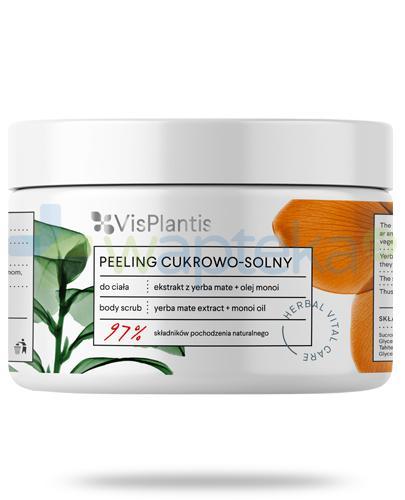 Vis Plantis Herbal Vital Care peeling cukrowo solny ekstrakt yerba mate + olej monoi do ciała 200 ml Elfa Pharm