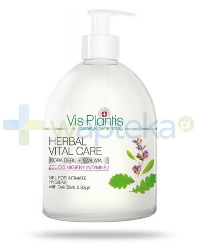 Vis Plantis Herbal Vital Care Żel do higieny intymnej Kora dębu szałwia 500 ml Elfa Pharm