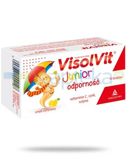 Visolvit Junior Odporność lizaki o smaku cytrynowym 10 sztuk