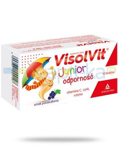 Visolvit Junior Odporność lizaki o smaku porzeczkowym 10 sztuk