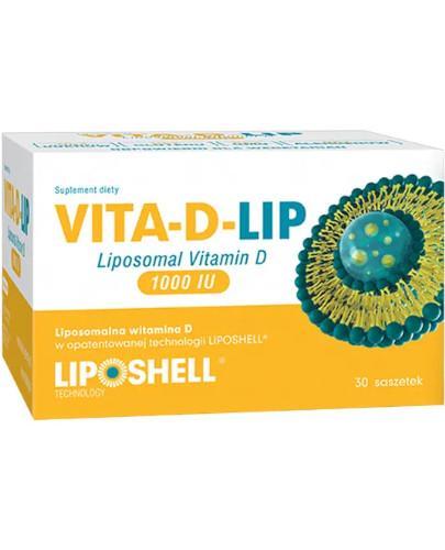 Vita-D-Lip, liposomalna witamina D 1000IU, 30 saszetek  + 2 saszetki Ascolip witamina C [GRATIS]