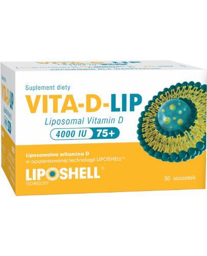 Vita-D-Lip, liposomalna witamina D 4000IU, 30 saszetek + 2 saszetki Ascolip witamina C [GRATIS]