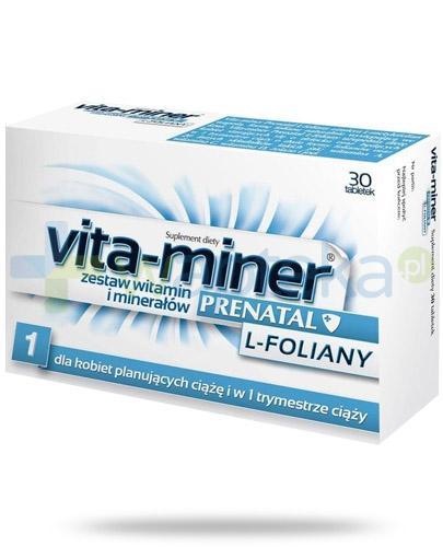 Vita-Miner Prenatal L-foliany 30 tabletek
