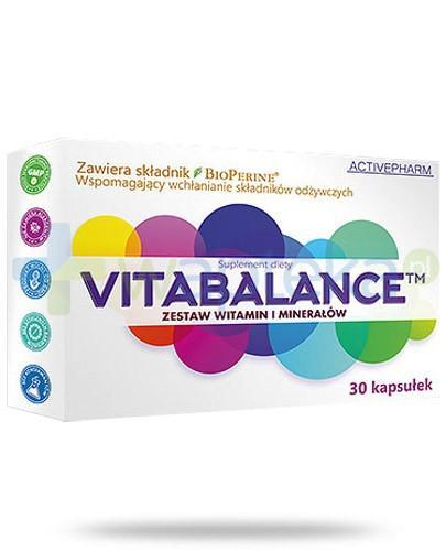 Vitabalance zestaw witamin i minerałów 30 kapsułek