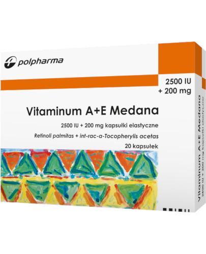 Vitaminum A+E 20 kapsułek Medana