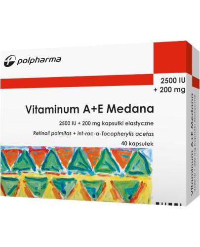 Vitaminum A+E 40 kapsułek Medana