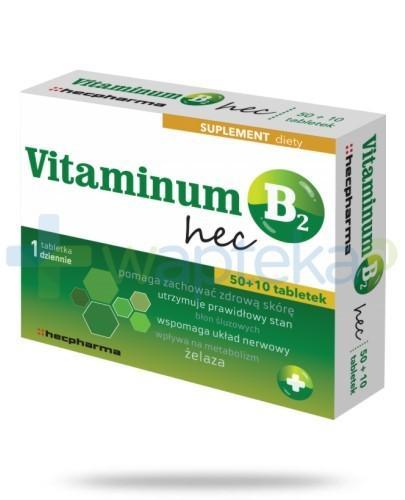 Vitaminum B2 Hec 60 tabletek (2 blistry po 30 tabletek)