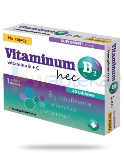 Vitaminum B2 Hec na zajady 30 tabletek