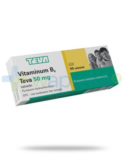 Vitaminum B6 50 mg 50 tabletek TEVA
