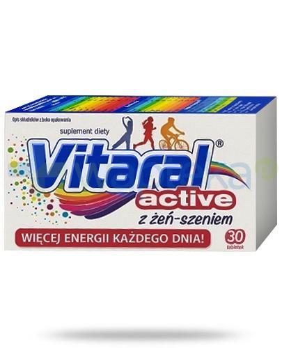 Vitaral Active zestaw witamin i minerałów z żeń-szeniem 30 tabletek