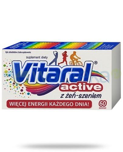 Vitaral Active zestaw witamin i minerałów z żeń-szeniem 60 tabletek