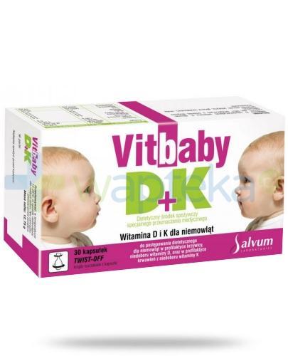 Vitbaby D+K 400j.m. 30 kapsułek twist-off