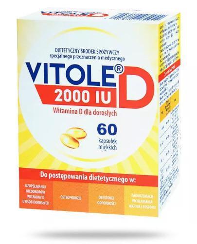 Vitole D 2000 IU 60 kapsułek