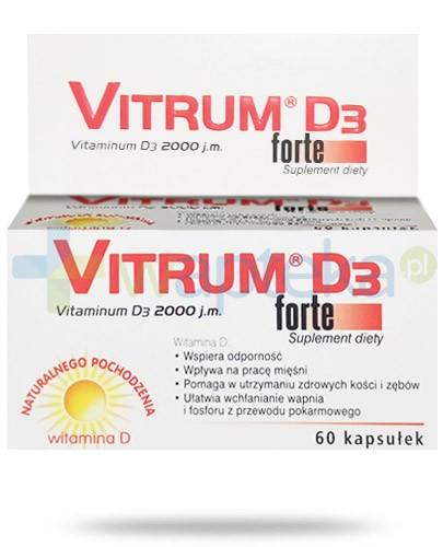 Vitrum D3 Forte 2000j.m. witamina D3 naturalnego pochodzenia 60 kapsułek