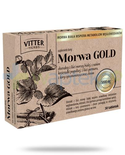 Vitter Herbs Morwa Gold 5000mg 30 tabletek
