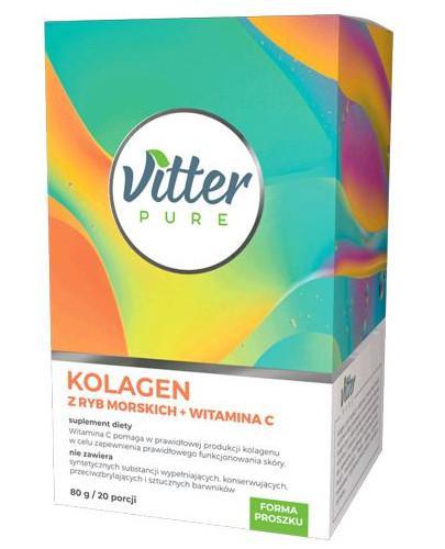 Vitter Pure Kolagen z ryb morskich + witamina C, proszek 80 g