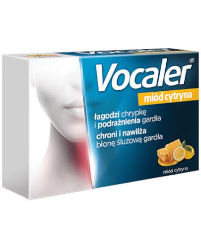 Vocaler na chrypkę i suchość w gardle smak miód cytryna 24 pastylki