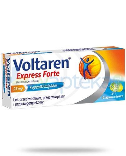 Voltaren Express Forte kapsułki przeciwbólowe i przeciwzapalne - 10 sztuk