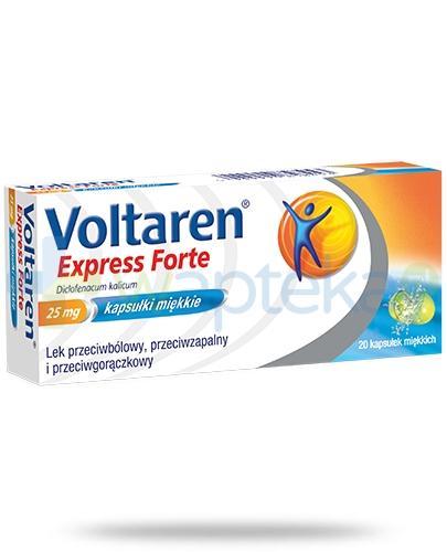 Voltaren Express Forte kapsułki przeciwbólowe i przeciwzapalne - 20 sztuk