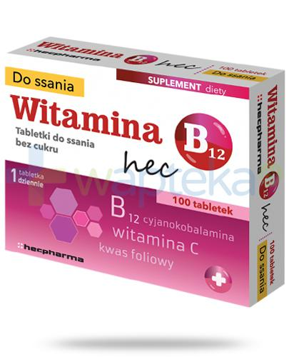Witamina B12 Hec 100 tabletek do ssania