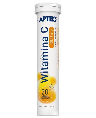 Apteo witamina C 1000mg o smaku cytrynowym 20 tabletek