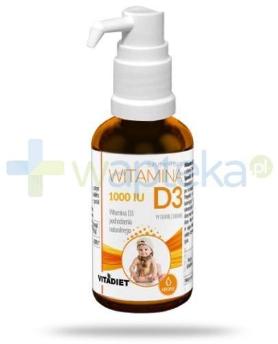 Witamina D3 1000 IU pochodzenia naturalnego krople 29,4 ml