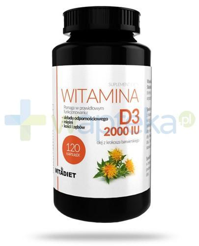 VitaDiet Witamina D3 2000 IU pochodzenia naturalnego 120 kapsułek