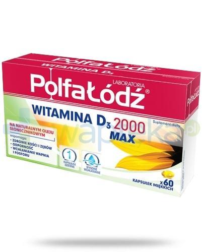 Polfa Łódź Witamina D3 2000 Max 60 kapsułek