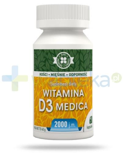 AMC witamina D3 Medica 2000j.m. 60 kapsułek