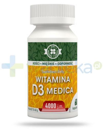 AMC witamina D3 Medica 4000j.m. 60 kapsułek