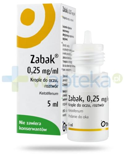 Zabak krople do oczu 0,25mg/ml 5ml